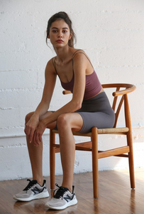 Seamless Ribbed 2-Strap Brami - Dark Mauve