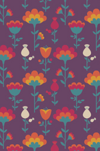 Load image into Gallery viewer, Multiway Bands - Scandi Floral Damson