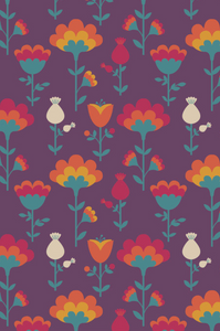 Multiway Bands - Scandi Floral Damson
