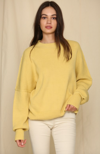 Citrus Oversized Crew Neck Sweater