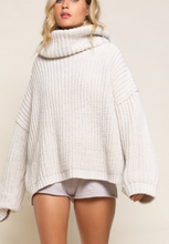 Load image into Gallery viewer, Almond Open-Back Sweater