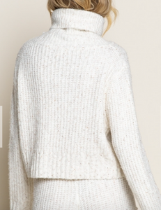 Cream Multi Crop Sweater