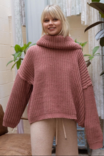 Load image into Gallery viewer, Terra Cotta Open-Back Sweater