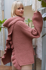 Terra Cotta Open-Back Sweater