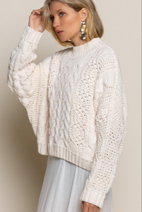 Traditional Knit Sweater - Ivory