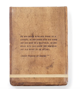 Leather Journal - Saint Francis of Assisi