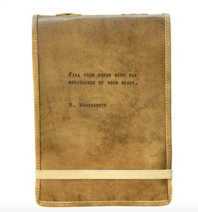 Leather Journal - W. Wordsworth