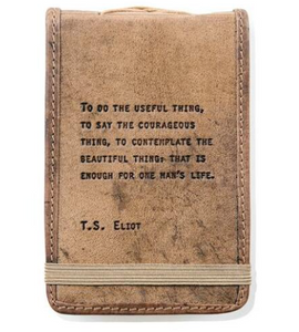 Mini Leather Journal - T.S. Eliot