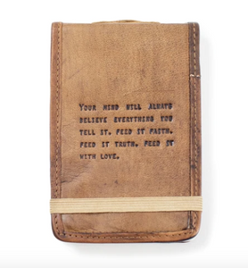 Mini Leather Journal - Faith, Truth & Love