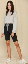 Load image into Gallery viewer, Long Sleeved Knit Rib Oversized Top with Waist String