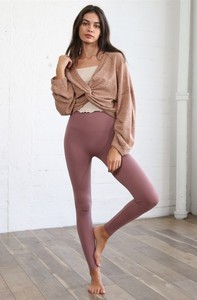 Reversible Knit Top - Brown