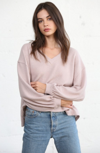 Dusty Pink Brushed Hacci Top