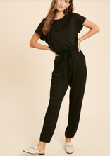 Load image into Gallery viewer, Black Casual Knit Jumpsuit