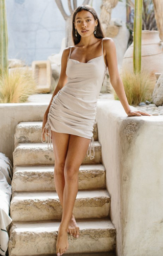 Satin Cami Dress- Champagne