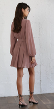 Load image into Gallery viewer, Dark Mauve Chiffon Dress
