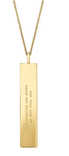 "Load image into Gallery viewer, Fortune Pendants: ""You will see it."" - 14K Gold-Dipped"