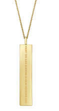 "Load image into Gallery viewer, Fortune Pendants: ""What you are seeking"" - 14K Gold-Dipped"