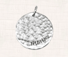 "Load image into Gallery viewer, Silver ""Mom"" Accent Charm"