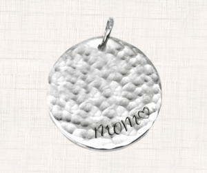 "Silver ""Mom"" Accent Charm"