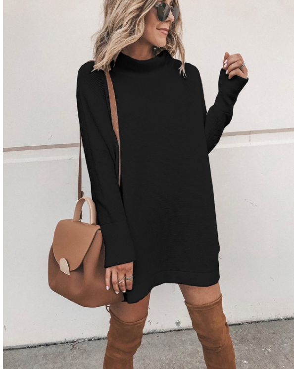 FINAL SALE - Mock Turtleneck Tunic