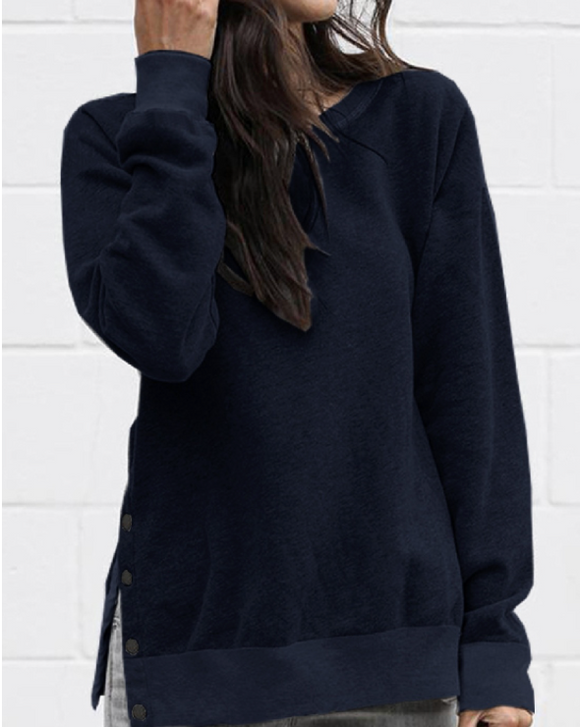 FINAL SALE - Side Spilt Sweatshirt