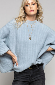 FINAL SALE - Boxy Blue Sweater