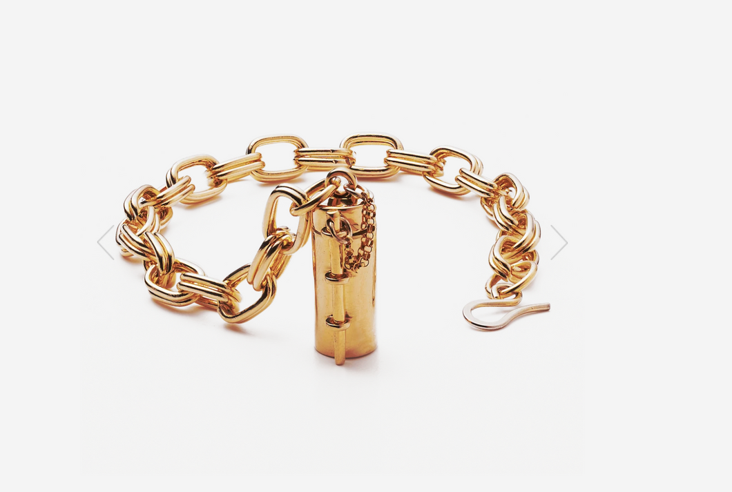 Capsule + Wand Bracelet // Gold Plated Sterling