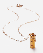 Load image into Gallery viewer, Capsule + Wand Necklace // 14K Gold-Plated Silver