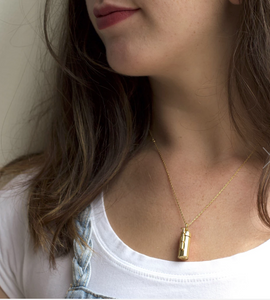 Capsule + Wand Necklace // 14K Gold-Plated Silver