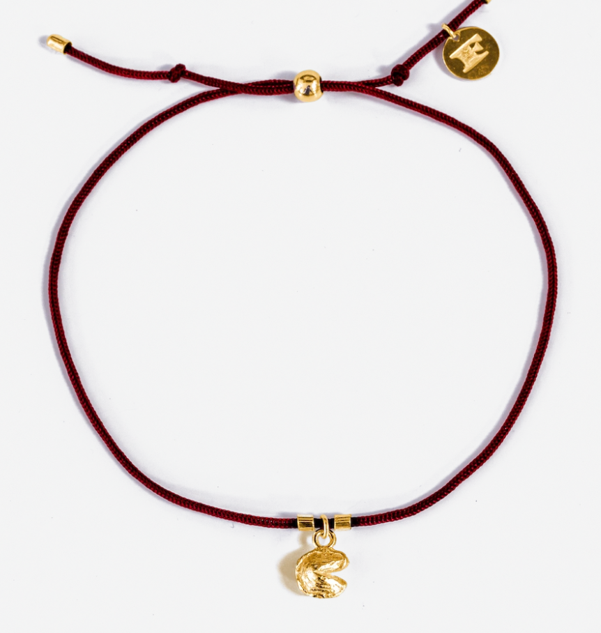 Fortune Cookie String Bracelet - Red