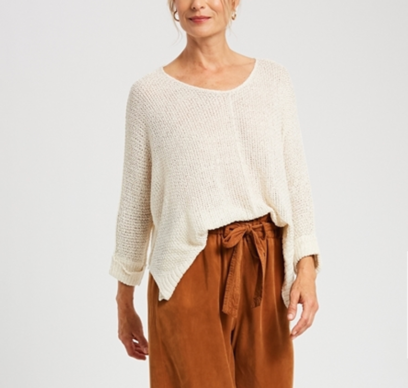 Creme Loose Knit Sweater