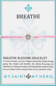 Breathe Blessing Bracelet - Pink