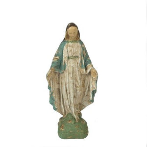 Vintage Inspired Virgin Mary Statue
