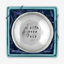 Faith Over Fear Charm Bowl