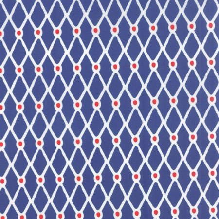 Beach House by Kate Nelligan - Geometric Fishnet Dark Blue