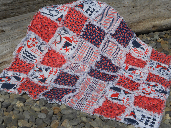 The Littles Rag Quilt Kit (coral)