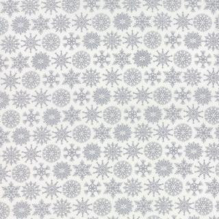 Folk Art Holiday by Gina Martin - Christmas Flakes Gray