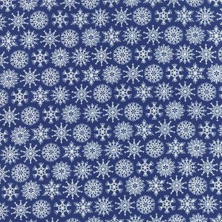 Folk Art Holiday by Gina Martin - Christmas Flakes Navy