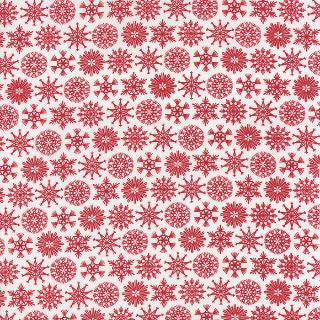 Folk Art Holiday by Gina Martin - Christmas Flakes Red