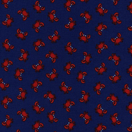 Mini Coastals by Timeless Treasures - Crabs (Navy)