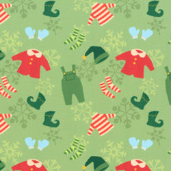 Not Even a Mouse by Cary Phillips - Christmas Clothes Light Green