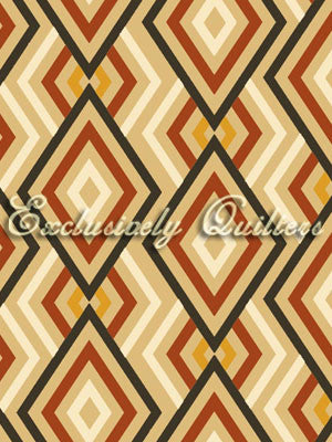 Saffron by Exclusively Quilters - Diamonds Cream