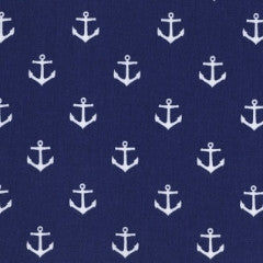 Seaworthy-All Hands on Deck by Jack and Lulu - Anchors (Navy)