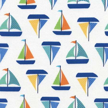 Splash by Timeless Treasures - Sailboats (White)