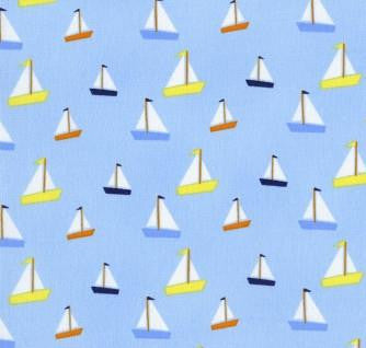 All Hands on Deck by Jack and Lulu - Sailboats (blue)