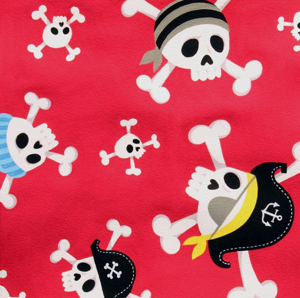 Pirate Island by Alexander Henry - Skull & Crossbones (red)
