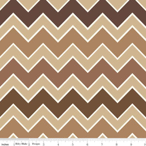 Shaded Chevron by Riley Blake- Bark