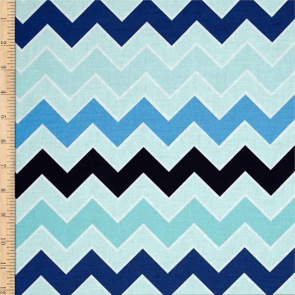 Shaded Chevron by Riley Blake - Ocean