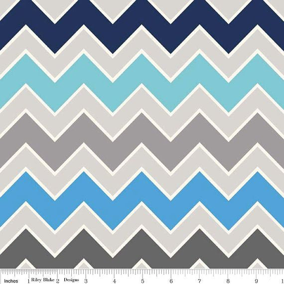 Shaded Chevron by Riley Blake - Serene