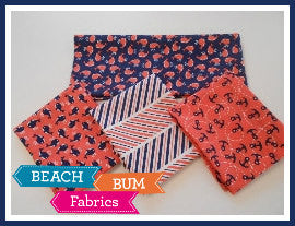 The Littles (Coral & Navy) - Fat Quarter Bundle